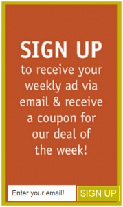 Ridleys Sign up1 179x300 Ridleys Family Markets; Weekly Email Coupons Means FREE Products!