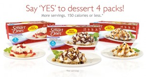 Smart Ones Dessert 4 packs 300x160 $4/10 Weight Watchers Smart Ones Coupon