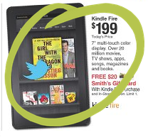 Smiths Kindle Fire SUPER HOT! Kindle Fire for $199 PLUS Get a $20 Smiths Gift Card!