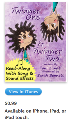 Twinner One and Twinner Two $.99 for Cute Childrens Book from Local Utah Author (Reg $3.99)