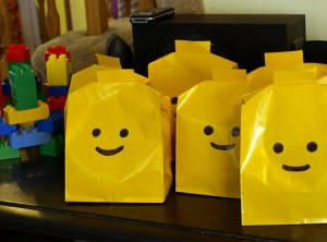 lego Party Bags 300x222 Lego Party Supplies and Ideas!