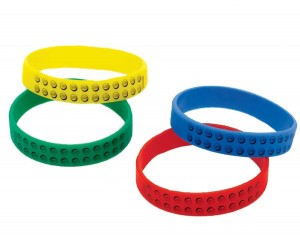 lego brackelets 300x235 Lego Party Supplies and Ideas!