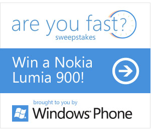 lumia giveaway sweepstakes WIN a Nokia Lumia 900 Phone   1 every week   Sweepstakes (30 second entry)