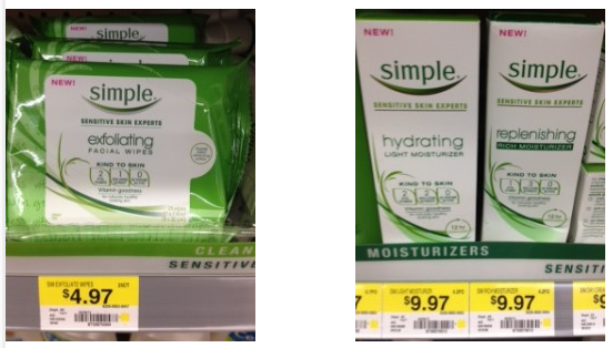 simple facial care coupon deal 2 Simple Cleaners Facial Care, toner, eye care $1.50 off