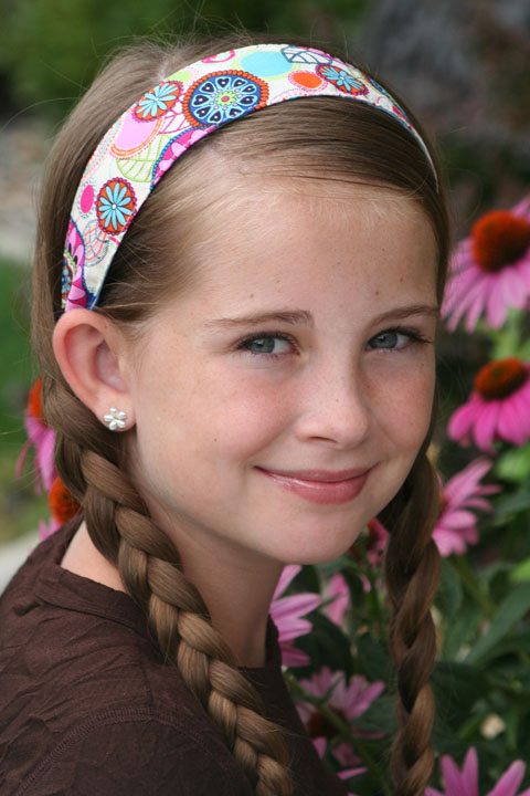 April Cobb Child floral Blogiversary Giveaway #6:  3 Macey Jayne Reversible Headbands *2 Winners*