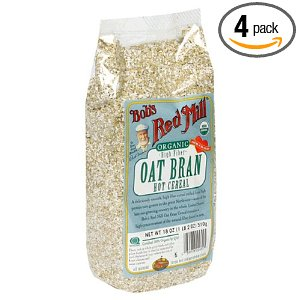 Bobs Red Mill Oat Bran 4 pack 18 oz Bobs Red Mill Organic Oat Bran Hot Cereal $7.98!