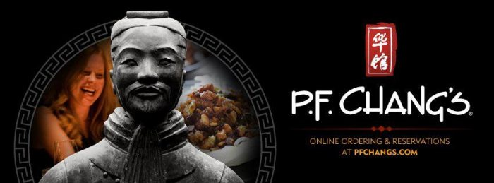PF Changs P.F. Changs Printable Coupon   FREE Appetizer!