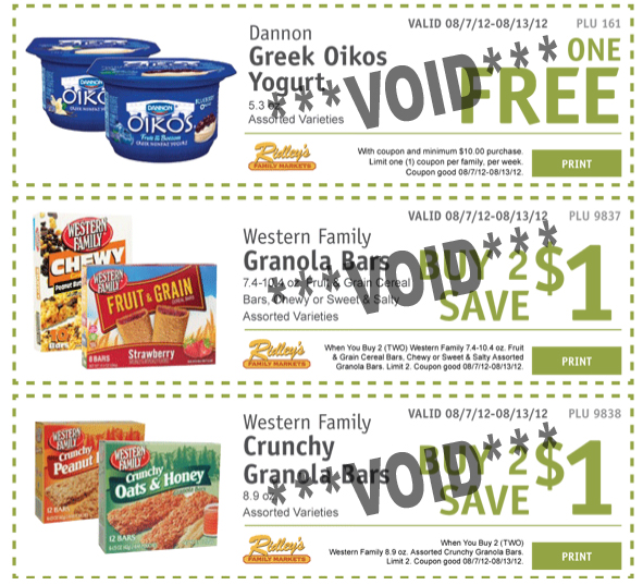 Ridleys Family Market email coupons1 Ridleys Family Market: Weekly eCoupons for August 7 13 (FREE Dannon Greek Oikos Yogurt!)