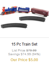 Train Set 32 piece E.L.F. set $6 shipped (plus other cool stuff)