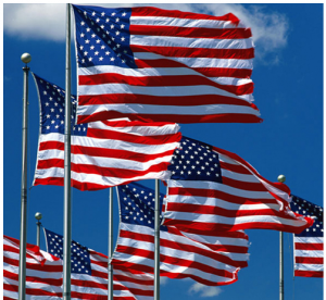 US flag 300x276 2 Pack: Jumbo 3 x 5 Polyester American Flags   $9.98 shipped