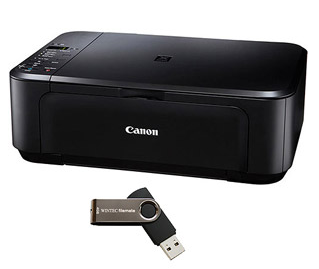 Walmart Printer Canon Inkjet All In One Printer/Copier/Scanner Bundle $29.98 (Reg $50)