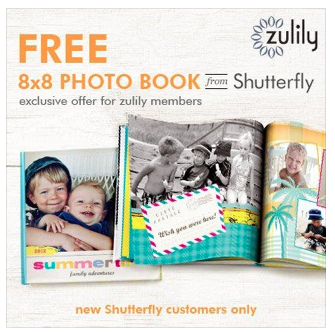 Zulily Photo Book Deal Free 8x8 Photo Book from Shutterfly and Zulily!