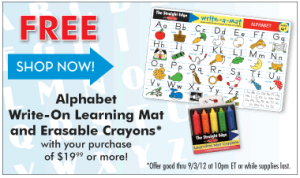 alphabet write on mat 300x178 MelissaAndDoug.com 40% Off Outlet Sale!