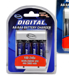 battery charger 272x300 4 rechargable batteries + charger $7.99 shipped
