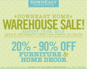 downeast 300x240 Downeast Furniture & Decor Warehouse sale   20 90% off (Provo)