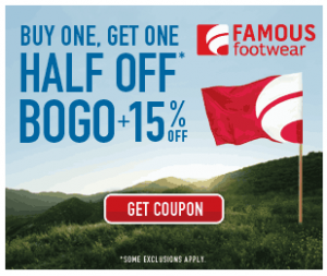 photo relating to Famous Footwear Printable Coupon titled Well known Sneakers BOGO + 15% off printable coupon Utah Cute