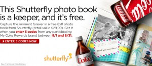 free shutterfly mycokerewards 300x131 FREE 8x8 Shutterfly Photo Book from MyCokeRewards!