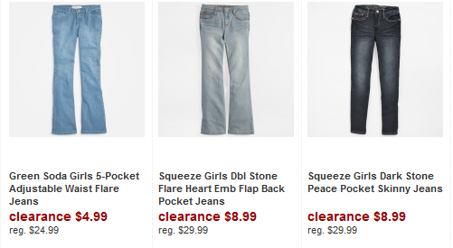 girls jeans 50% off Clothing + FREE shipping!!! at ShopKo