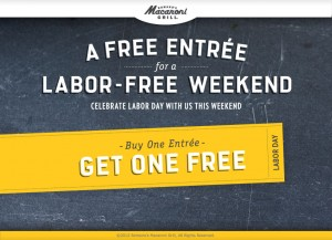 macaroni grill coupon labor day weekend 300x217 Romanos Macaroni Grill B1G1 FREE Coupon!