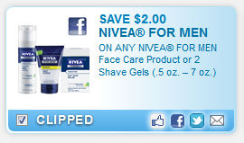 nivea coupon Nivea Face Care for Men coupon = $0.24 Shave Foam