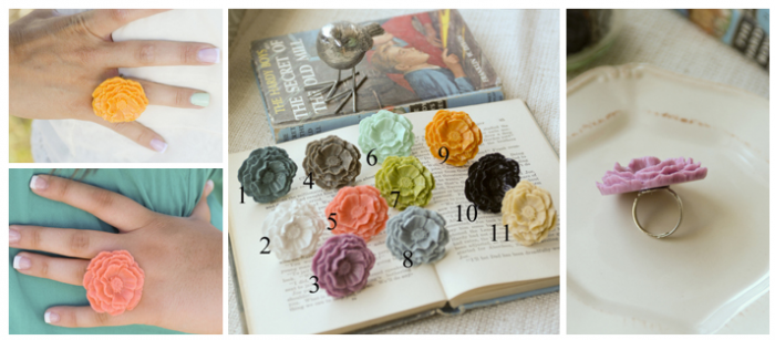 poppy flower rings 2 Poppy Flower Rings $4.95 (reg $11)