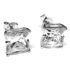 sterling silver cubic zirconia stud earrings Sterling Silver Cubic Zirconia Stud Earrings: $3.99 Shipped!