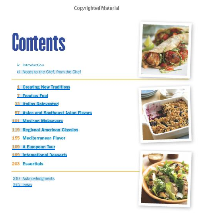 table of contents Biggest Loser Flavors of the World Cookbook   $3.78 shipped (reg $21.99)