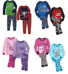 walmart pajamas 2 sets 276x300 Walmart.com: Girls and Boys Pajamas Only $5! Lots of Styles!