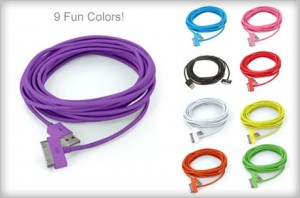 10 foot color usb cables 300x198 2 10 Foot Color USB Cables from iChameleons: $8 Shipped