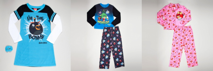 Angry Bird Pajamas Angry Birds Pajamas ($10) and Beanie & Gloves ($8.50)!