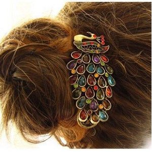Crystal Peakcock Hair Clip Deal Super Cute Crystal Peacock Hair Clip $2.17 Shipped!!