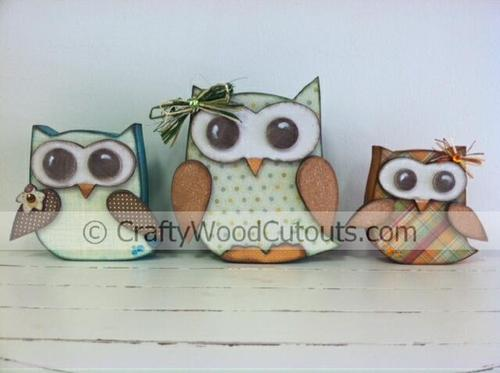 Owls Giveaway:  Crafty Wood Cutouts + Review and Tutorial