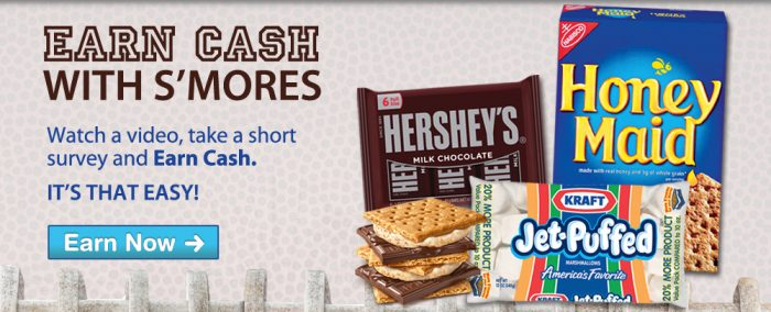Smores Deal Earn Cash with Smores and Walmart!