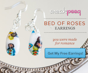 Sneakpeeq Deal Free Bed of Roses Earrings from Sneakpeeq