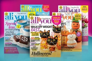 all you magazine eversave 300x198 Reminder: All You Magazine Only $1/Issue!