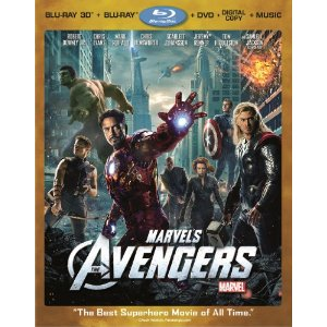 avengers Marvels The Avengers Four Disc Combo: Blu ray 3D/Blu ray/DVD + Digital Copy + Digital Music Download: $19.99!