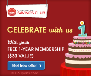 coupon savings club Coupons.com Savings Club: Get One Year FREE!
