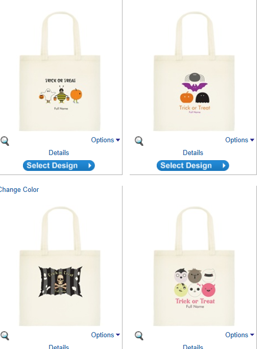 custom halloween bag Super Cute Personalized Halloween Totes only $7.52 Shipped!