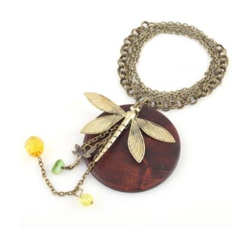 dragonfly necklace Wood Dragonfly Necklace   $1.99 shipped