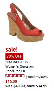 fergalicious NEW Famous Footwear Coupon! 15% Off!