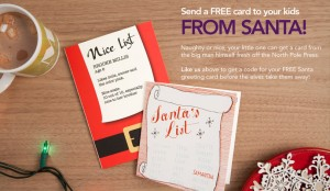 free card from santa 300x174 FREE Card from Santa! (Facebook Offer   Limited Quantity)
