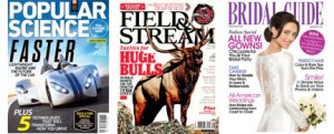 free magazines 300x121 *Expired* FREE Magazine Subscriptions! Field & Stream, Popular Science, Bridal Guide, and MORE!