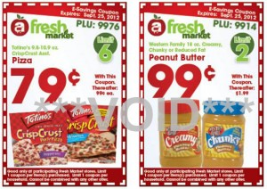 fresh market ecoupons 300x212 Fresh Market Weekly eCoupons for September 19 25 ($0.99 Peanut Butter, $0.59 Pizza!)
