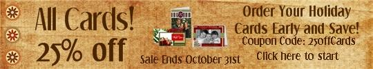 holiday cards FREE Thanksgiving Digital Scrapbook Collections PLUS Save 25% on Cards!