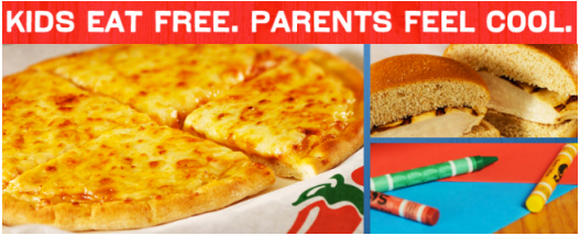 kids eat free parents feel cool Kids Eat FREE at Chilis