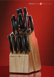 knife set 210x300 $44.95 Shipped for an 18 Piece World Class Knife Set with Wood Block