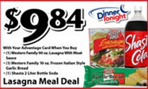 lasagna meal deal 300x181 Ridleys Family Market Weekly Deals: September 18 24 (DOUBLES on TUESDAY!)