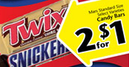 mars candy bars Ridley's Family Market Weekly Deals: September 11 17 (Great Price on Russett Potatoes!)