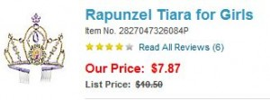 rapunzel tiara 300x111 Disney Store: Halloween Shop PLUS 25% off select Costume Accessories
