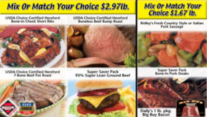 ridleys mix or match meat deals 300x169 Ridley's Family Market Weekly Deals: September 4 10 (Stock up on Surf Laundry Detergent & Colgate Toothpaste!)